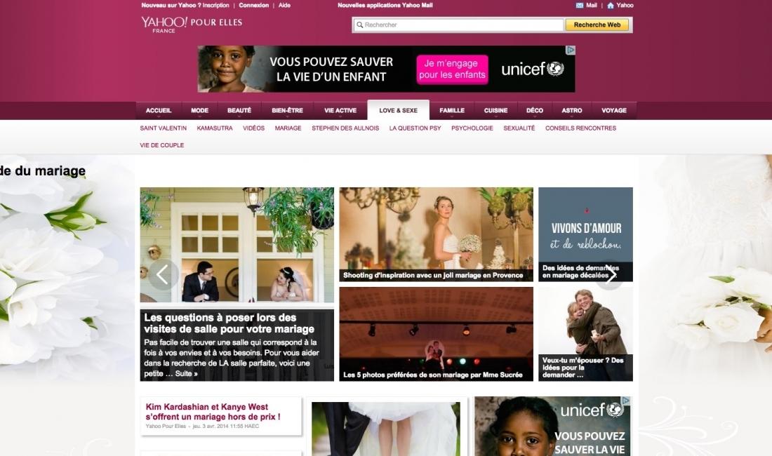 SJ Studio publié sur Yahoo pour Elles